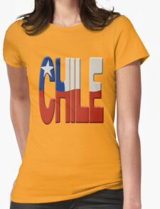 Chilean national flag Womens Fitted T-Shirt