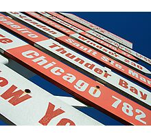 signs pointing in all directions Photographic Print