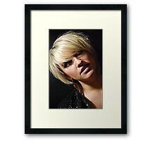 the blond Framed Print
