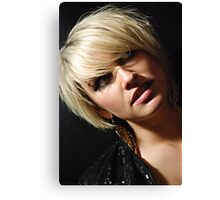 the blond Canvas Print