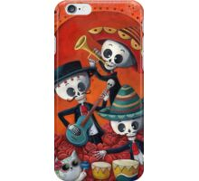 Dia de Los Muertos Skeleton Musicans iPhone Case/Skin