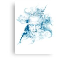 No Smoke Without Meth (Blue) Canvas Print