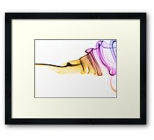 Raindow ribbon Framed Print