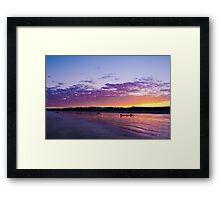 Fisherman's village beach sunset Framed Print