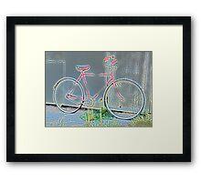 Glowing Vintage Bicycle... Framed Print