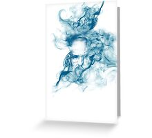 Up in Smoke (blue) Greeting Card