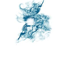 Up in Smoke (blue) Photographic Print