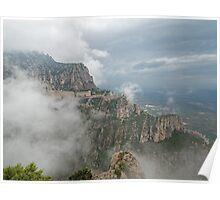 Montserrat in mist Poster