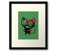 Black Cat of The Dead Framed Print