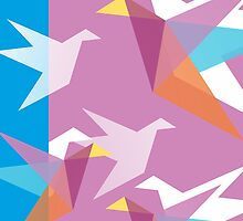 Pastel Paper Cranes by XOOXOO