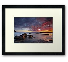 Whale Explosion Framed Print