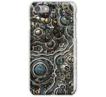 Silver glitter bubble cells pattern iPhone Case/Skin