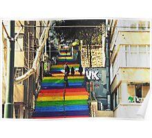 Rainbow steps Poster