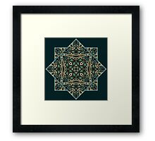 Festive precious ornament pattern star Framed Print