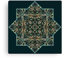 Festive precious ornament pattern star Canvas Print