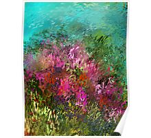 FLOWERS AT WATERS EDGE Poster