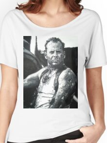 Bruce willis in die hard iconic piece Women's Relaxed Fit T-Shirt