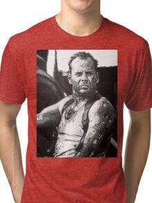 Bruce willis in die hard iconic piece Tri-blend T-Shirt