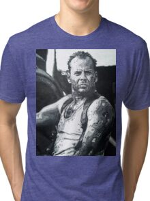 Bruce willis in die hard iconic piece Tri-blend T-Shirt