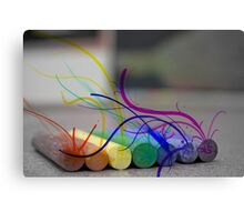 Seeping Colours Into a Dull World Canvas Print