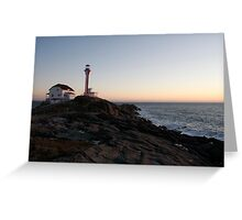 Cape Forchu Lighthouse at Dusk Greeting Card