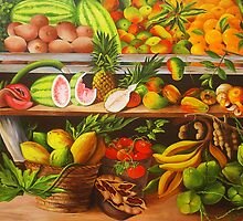 Manuel and His Fruit Stand by Dominica Alcantara