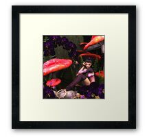 Black Orchid Framed Print