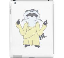 Raccoon God Design iPad Case/Skin