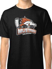 Melbourne Mustangs Classic White Logo Classic T-Shirt