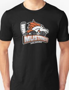 Melbourne Mustangs Classic White Logo Unisex T-Shirt