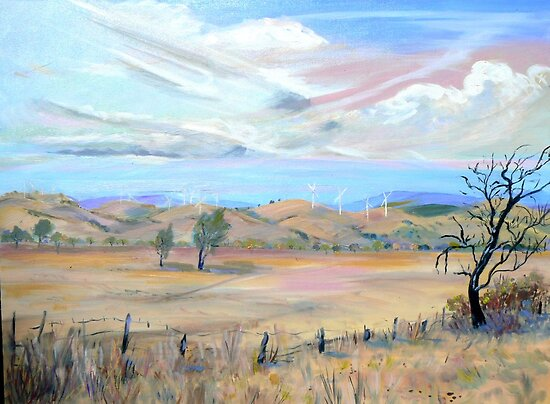 Blayney [NSW] Australia ] Wind Farm by Virginia McGowan