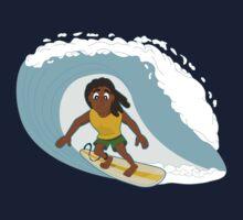 Surfer cartoon Baby Tee