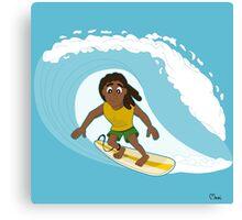 Surfer cartoon Canvas Print