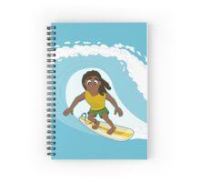 Surfer cartoon Spiral Notebook