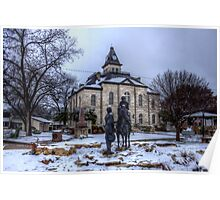Snow Day on the Courthouse Square Poster