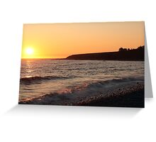 Sunset at Cranberry Head Greeting Card