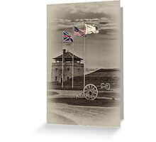 Fort Niagara's Flags Greeting Card
