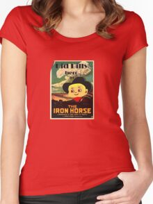 Kid Billy Cowboy movie poster tee Women's Fitted Scoop T-Shirt