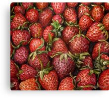 Strawberries oil painting Canvas Print