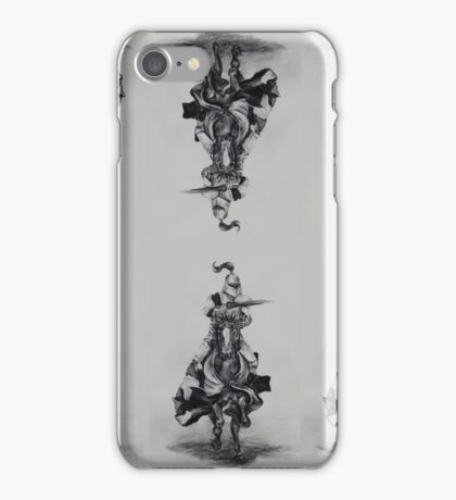 Charging Knight scarf iPhone Case/Skin