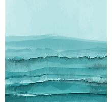 Watercolor Turquoise Sea Photographic Print