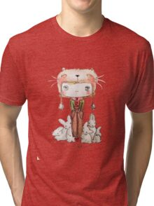Hound Hatted Bunny Boy Tri-blend T-Shirt