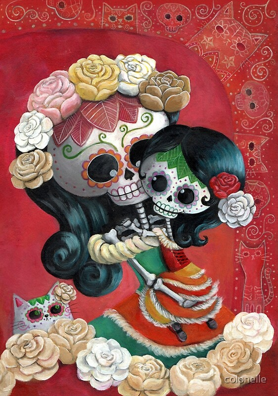 Quot Mexican Skeletons Mother And Daughter Quot By Colonelle