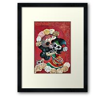 Mexican Skeletons Mother and Daughter Framed Print