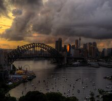 Darkness and Light - Sydney Harbour - Moods Of A City - The HDR Experience by Philip Johnson