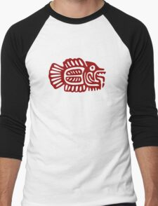 Abstract Red Fish Men's Baseball ¾ T-Shirt