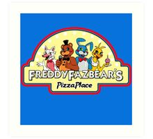 Five Nights at Freddy's 2 Freddy Fazbear's Logo  Art Print