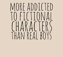 more addicted to fictional character than real boys Womens Fitted T-Shirt