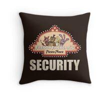Five Nights at Freddy's Freddy Fazbear's Security Logo Throw Pillow