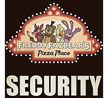 Five Nights at Freddy's Freddy Fazbear's Security Logo Photographic Print